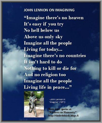 John Lennon on imagining
