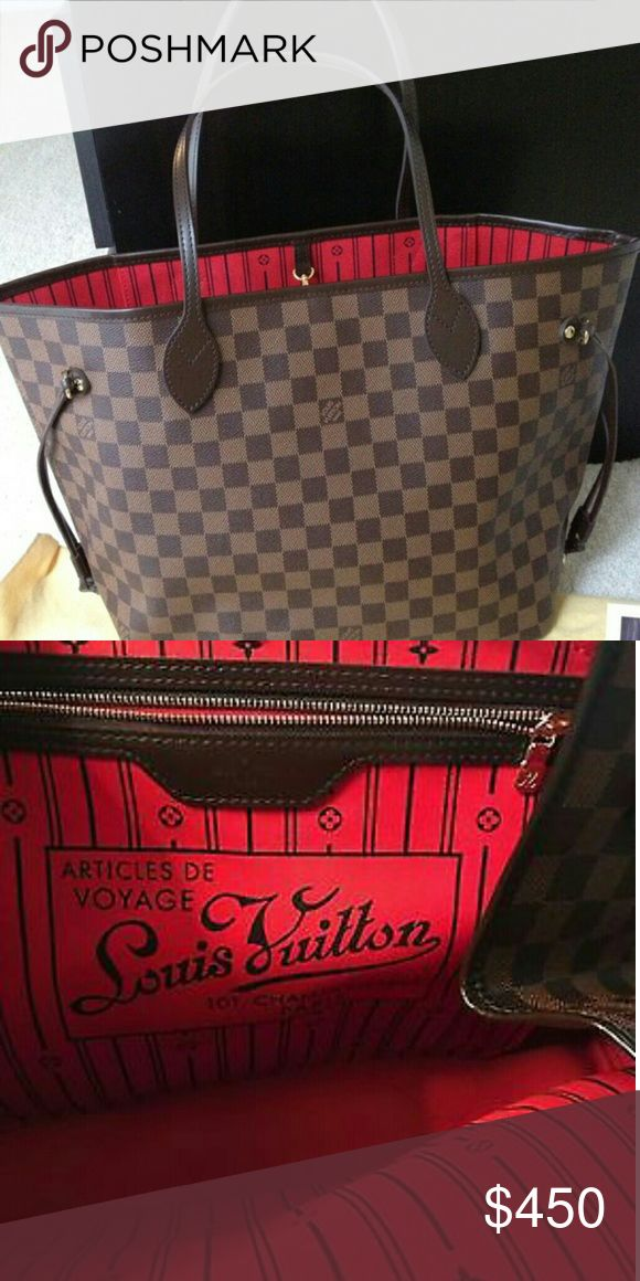 Louis vuitton Neverfull mm damier The best quality of Louis vuitton made with the exact materials.Price reflects auth.It has serial numbers. 350 on  Louis Vuitton Bags Shoulder Bags