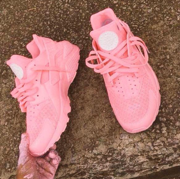 Nike Huarache Women Pink Black
