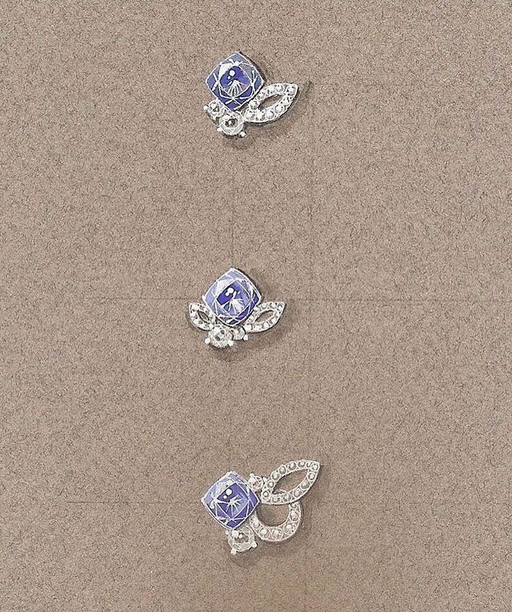 """ถูกใจ 54 คน, ความคิดเห็น 7 รายการ - (Claire)Ying ZHANG (@clairezhangg) บน Instagram: """"Simple earrings for a french jewelry brand.#yingzhangdesign #jewelrydesigner #jewelrysketch…"""""""