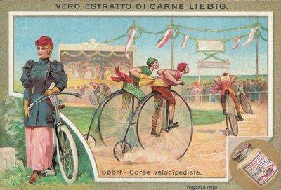 Corse velocipediste in 'Sport', Liebig, Londra, 1896