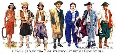 Diário de um Gaúcho Grosso: A EVOLUÇÃO DO TRAJE GAUCHESCO NO RIO GRANDE DO SUL...