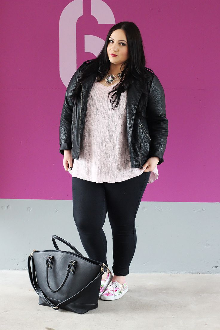 DRESSITCURVY - PLUS SIZE FASHION BLOG: OOTD: DER ZWIEBELLOOK IN PINK&SCHWARZ