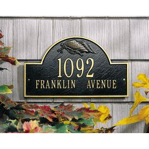 Personalized Flag Address Plaque