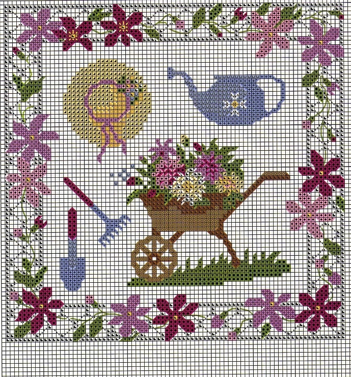 162 Best Garden Yard Home Cross Stitch Images On Pinterest