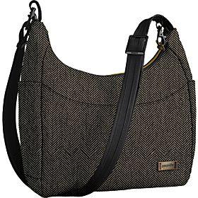Pacsafe Citysafe 100 GII Anti-Theft Travel Handbag - Herringbone - via eBags.com!
