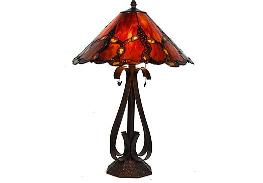 shop for a alahambra tiffany style lamp at rooms to go find lamps. Black Bedroom Furniture Sets. Home Design Ideas