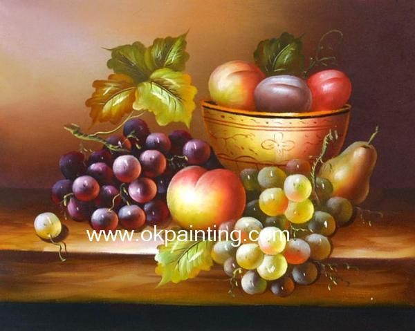 Classic Still Life Paintings | Hand-painted Fruits Classic ...