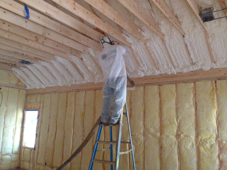 Hybrid Insulation With Fiberglass On The Exterior Walls And Spray Foam On The Roof Deck