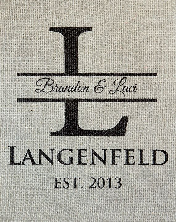 Personalized Burlap Monogrammed Wall Art Wedding Anniversary House Warming  Gift Via Etsy