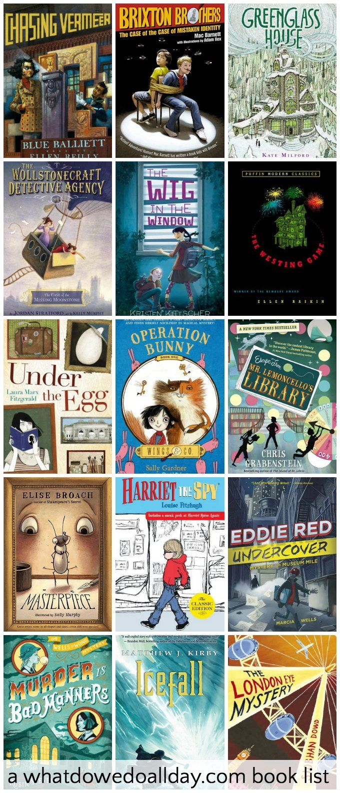 Wonderful middle grade mystery chapter books. These mysteries keep kids reading!