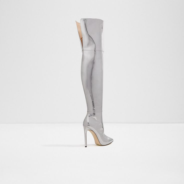 Tracie's Boots | Cherima Silver Women's Over-the-knee boots | ALDO US