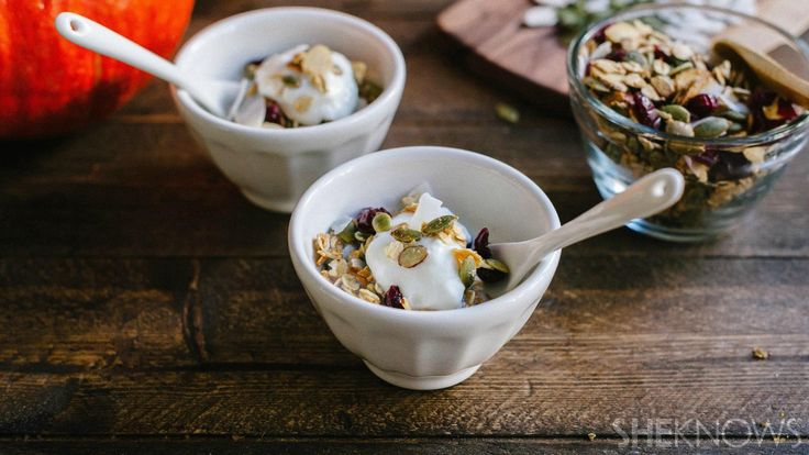 Pumpkin seed granola with almonds cranberries and toasted coconut