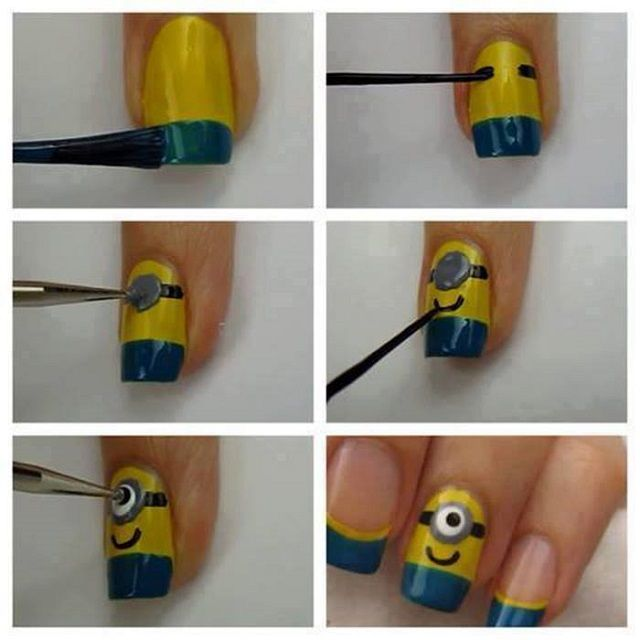 Despicable me Minions nails - needed for every minion costume!