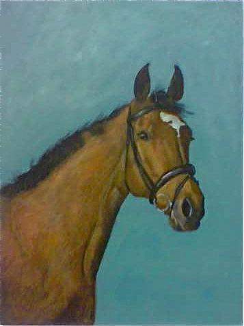 Horse of my daughter... solded to Boston, America... painted by me...
