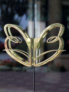 Custom Logo Door Pulls, Cast In Brass.