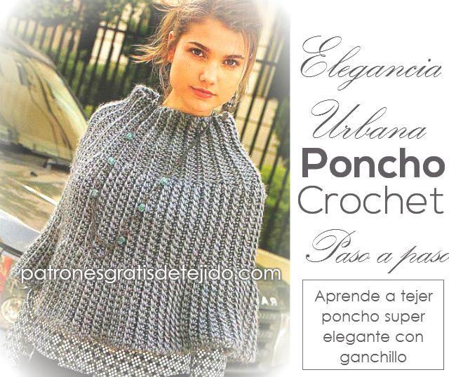 615 best Ponchos, Capas a Crochet images on Pinterest | Capilla ...