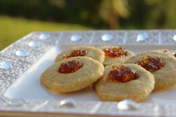 Fig and Gorgonzola Savouries  Thumbprints