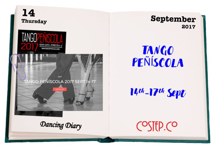 CoStep.Co Dancing Diary  - Shows, Workshops & Milongas in Gran Hotel Peñíscola from 14th to 17th September 2017.