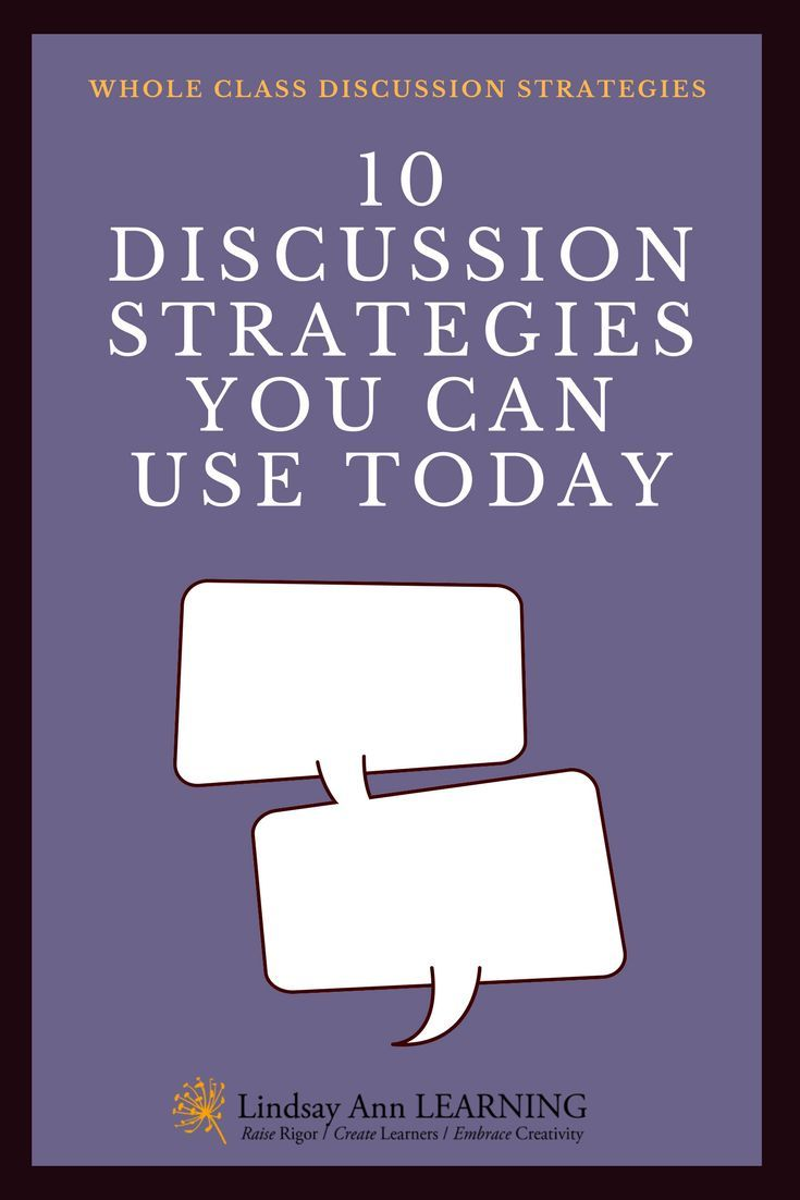 Student Led Discussion Strategies For Whole Class Discussion Discussion Strategies Effective Teaching Strategies Effective Teaching