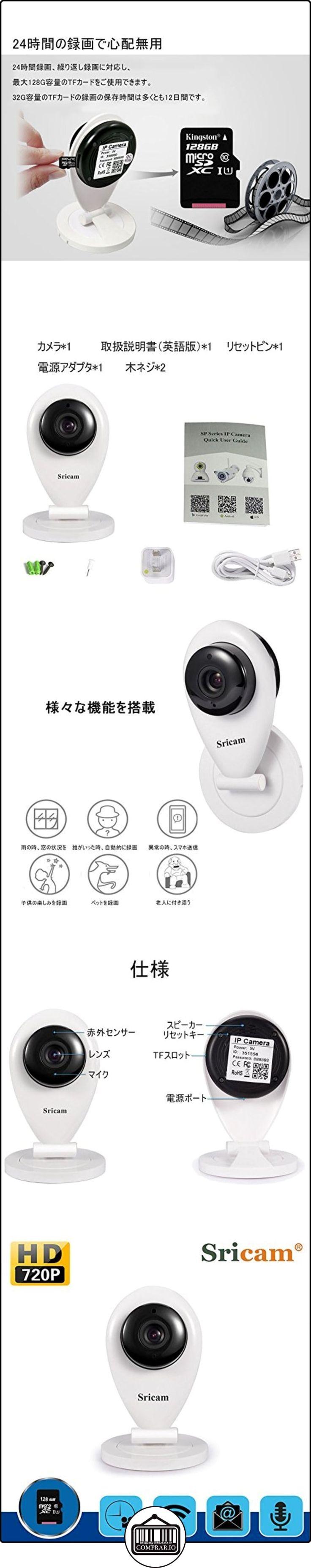 Sricam La monitorización inteligente por una clave de WiFi,cámara de monitor inalámbrico de visión nocturna de alta definición de 720P,función de hacer la alarma móvil----ronda  ✿ Vigilabebés - Seguridad ✿ ▬► Ver oferta: http://comprar.io/goto/B01N4QNFSD
