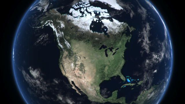 North America is a continent entirely within the Northern Hemisphere and almost all within the Western Hemisphere. It can also be considered a northern subcontinent of the Americas. It is bordered to the north by the Arctic Ocean, to the east by the Atlantic Ocean, to the west and south by the Pacific Ocean, and to the southeast by South America and the Caribbean Sea.