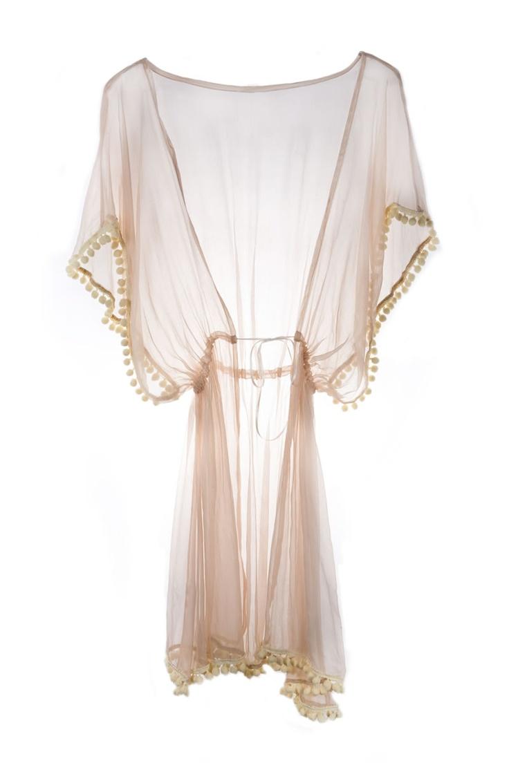 Ell & Cee Sorbet Pom Pom Robe: Pom Robes, Style, Pompom, Coverup, Lingerie Sheer Robes, Pom Pom, Sexy Robes, Fashion Lingerie, Covers Up