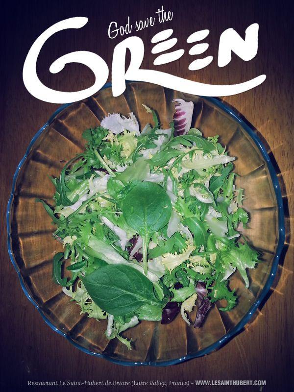 """God Save The Green"". Featuring #GreenSalad  #Salad. © François Soulignac for Restaurant Le Saint-Hubert de Briare (Loire Valley, France)"