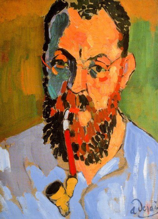 portrait of Matisse, by Andre Derain