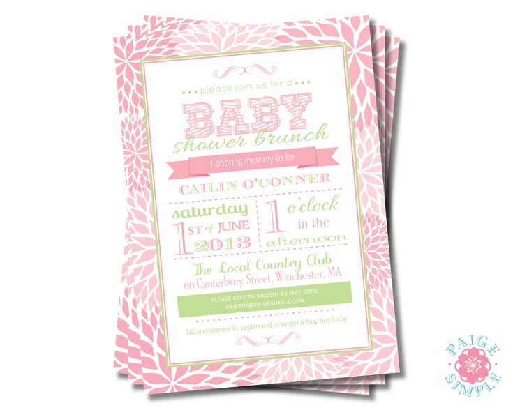 Baby Shower Invitation | invitations: love • ideas