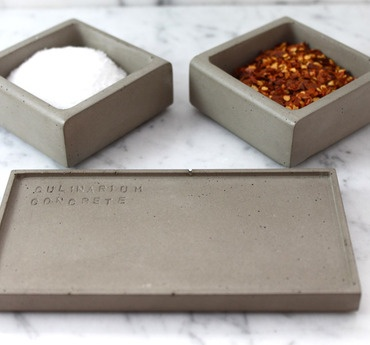 Kitchen tools made from concrete. Modern and funky, both of my favorite things.