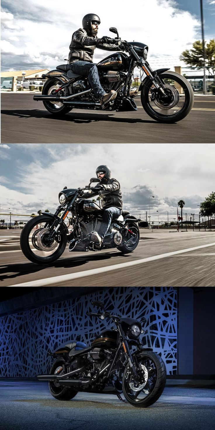 Dark style and massive torque sit center stage in our top-of-the-line take on blacked-out American muscle.  2017 Harley-Davidson Pro Street Breakout