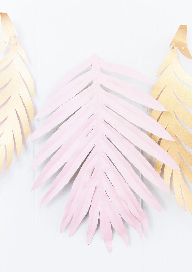 DIY Pink Palm Leaf Banner   Best Friends For Frosting