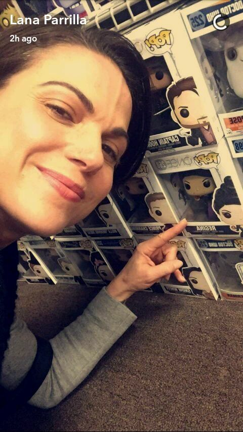 Awesome Lana looking at an awesome #Once Evil Queen Regina Funko Pop #VancouverBC #Canada Monday 2-20-17 #PresidentsDay #LanasSnapChat