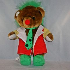 """1994 WWF """"Doink the Clown"""" Teddy Bear Wrestling Plush"""
