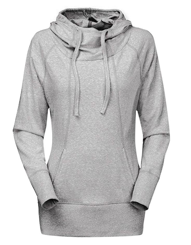 2015 nueva camiseta S XL Casual sólido manga larga Pullover Hoodies mujeres Ladies cuello espesar Blouese chándal # k en Sudaderas de Moda y Complementos Mujer en AliExpress.com | Alibaba Group
