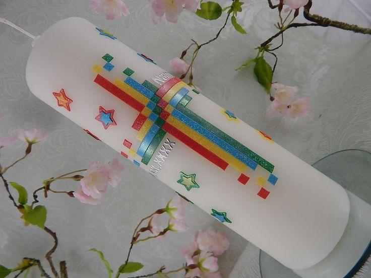 Taufe - Taufkerzen - Taufkerze - Taufkerze Kreuz - Taufkerze Junge - Taufkerze Mädchen - Taufkerze Mosaik von LenzKerzen auf Etsy