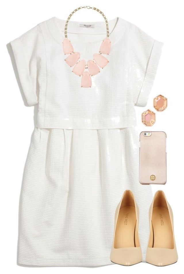 """""""hoco??"""" by tabooty ❤ liked on Polyvore featuring Madewell, Kendra Scott, Nine West and Tory Burch"""