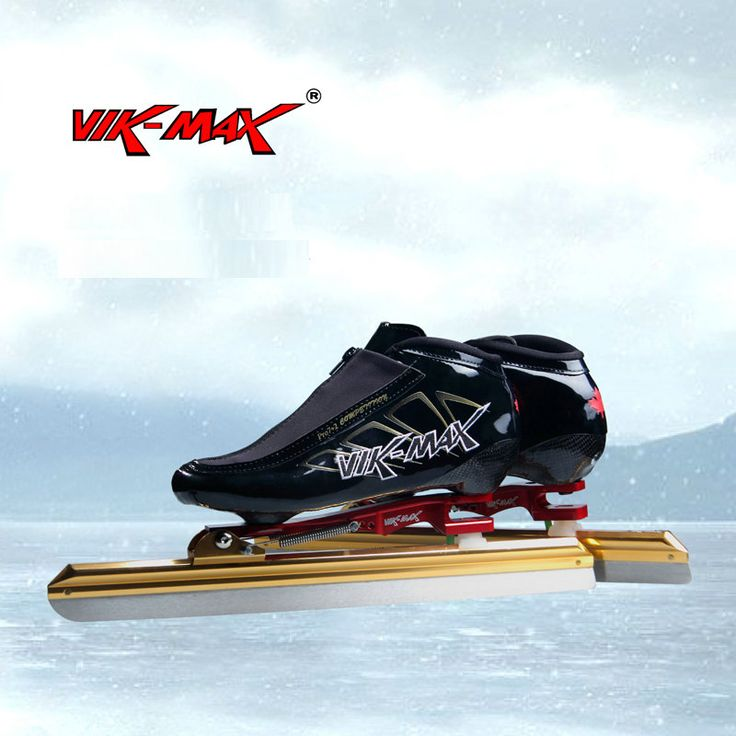 VIK-MAX high quality ice speed skate shoes with high carbon steel ice blade nice hot sale speed skate shoes