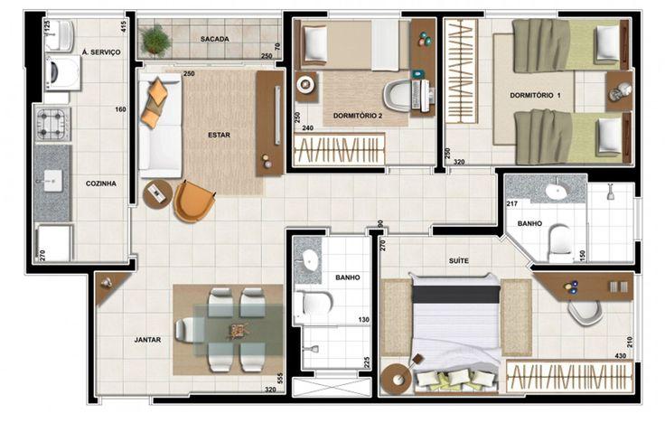 1000 images about plan apartment photoshop on pinterest for 90m2 apartment plans