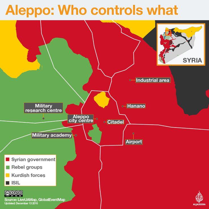 aleppo map syria rebels kurds