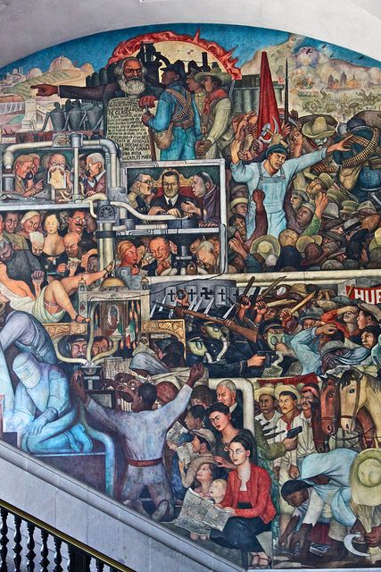 Diego Rivera's Murales, National Palace, Mexico City