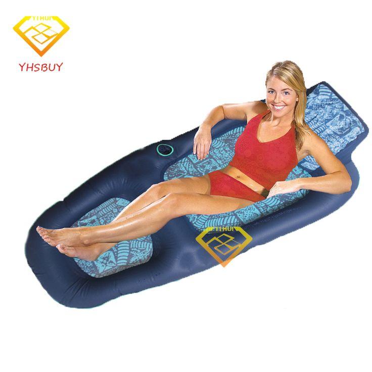 2016 Novo Luxo Conforto Espreguiçadeira Flutuante Jangada de Água Azul Adultos Float Piscina Mobiliário Sofá Ao Ar Livre placa de Natação Bordo Natação Luchtmatras(China (Mainland))