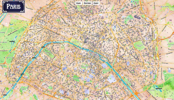 Découvrez les secrets des rues, des places et des recoins de Paris grâce à cette carte compilant toutes les données de la municipalité via ParisData.