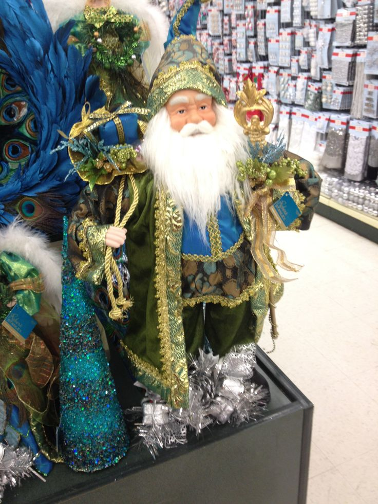 Christmas Decorations At Haskins : Peacock santa and trees hobby lobby i want