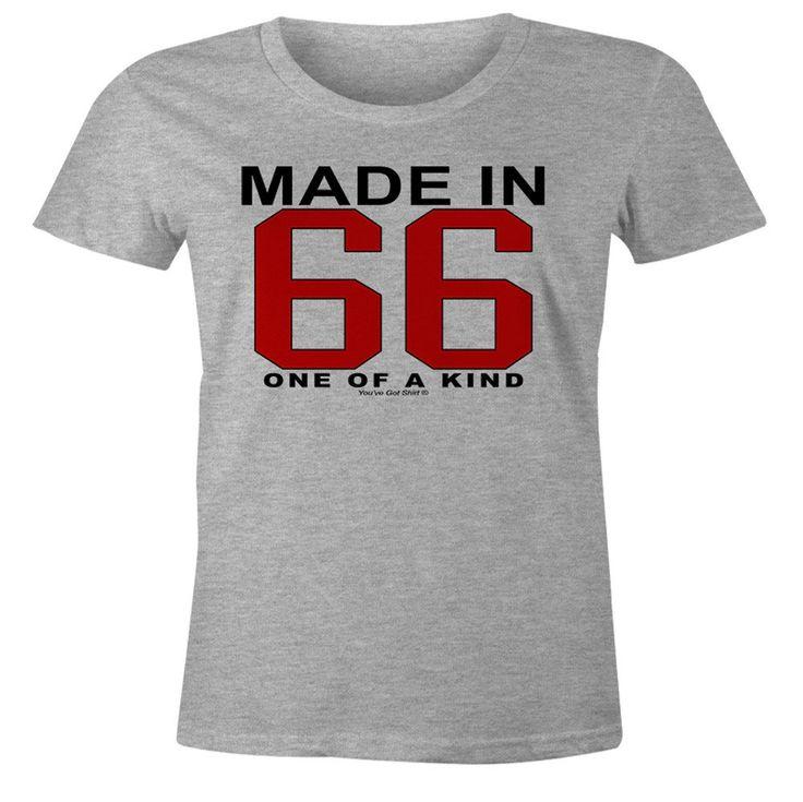 50th Birthday Gift TShirt  One of a Kind  Born in 1966 Short Sleeve Womens TShirt