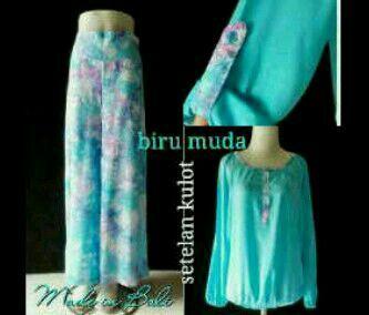 Set kulot Material: cotton batik Price: 150.000 rupiah Made in bali indonesia Order: what sapp 081237299261