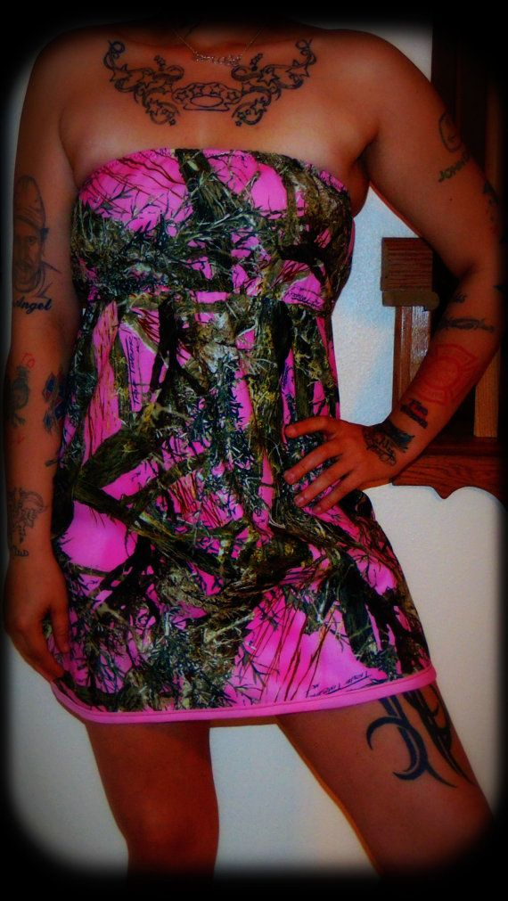 Pink Camo Summer Dress by BackwoodsBarbieAcc on Etsy, $45.00