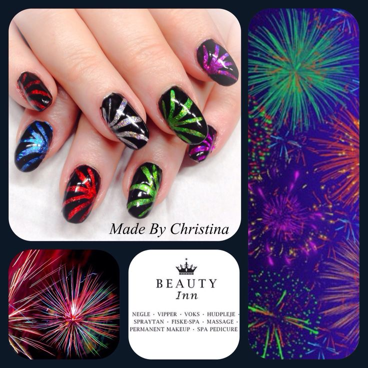 Cnd brisa gel , shellac and Foil design . Happy new Year