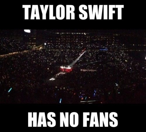 Nice try haters! Selling out the staples center and so many more, SWIFITE FOR INFINITY.